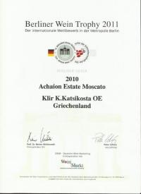 Moschato di Rio Acheon Winery Silver medal